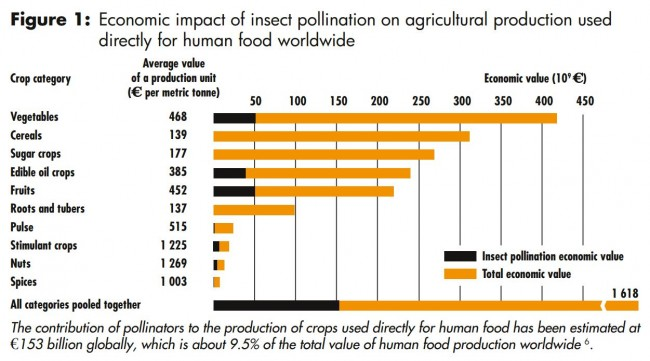 Honey Bee Global Food Dependence