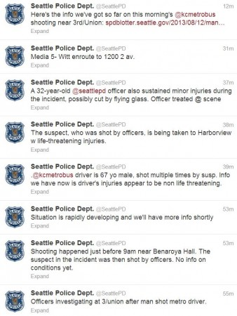 Bus Driver Shot in Seattle Twitter Feed