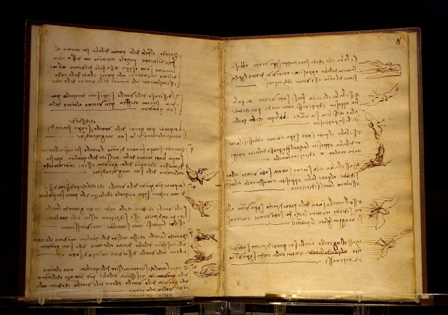 Da Vinci's Codex on the Flight of Birds