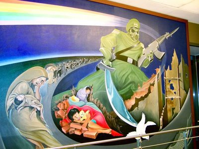 Beyond the conspiracy theory that surrounds the illuminati for Mural in denver airport