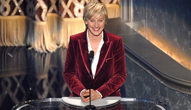 In 2014 Ellen DeGeneres Will Host Oscars for Second Time