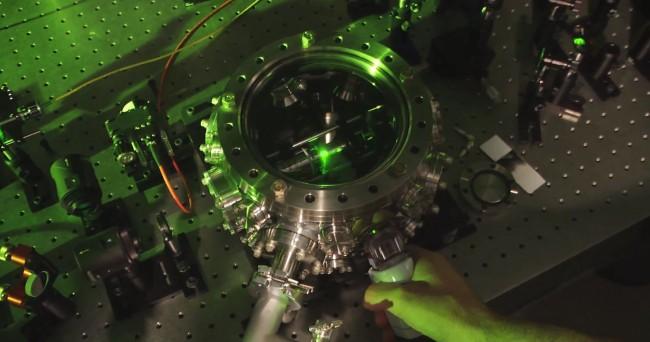 Levitating Nanodiamond Vacuum Chamber