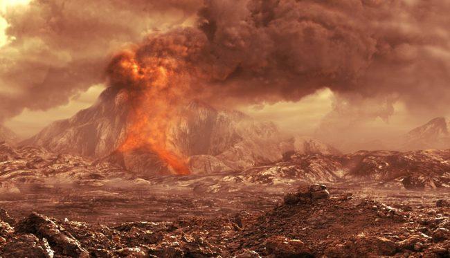 Mars Volcano Image