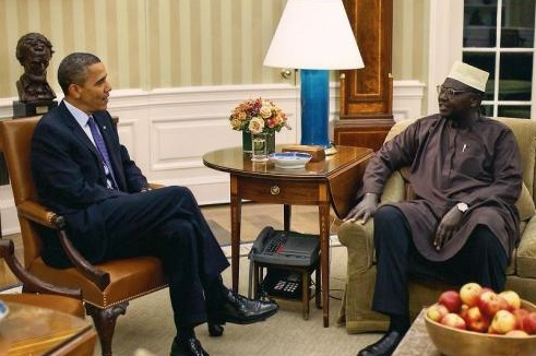 Obama and half-brother Malik