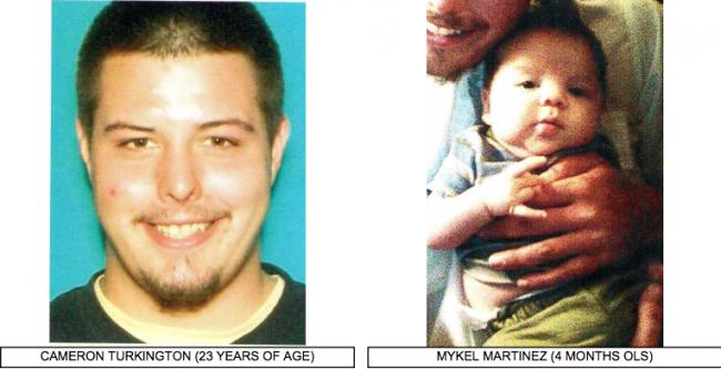 Las Vegas: Missing Infant 4-month-old Mykel Martinez Cameron and Cameron Turkington
