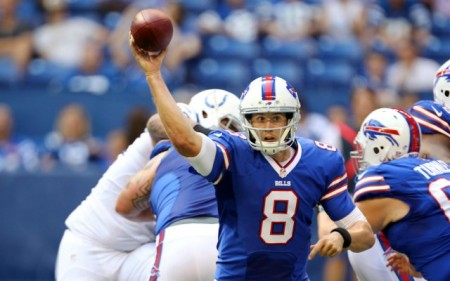 Jeff Tuel could be the first undrafted rookie quarterback to start opening day for his team after injuries to the two men above him in Buffalo.