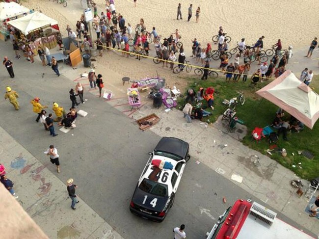 Car Into Beachgoers