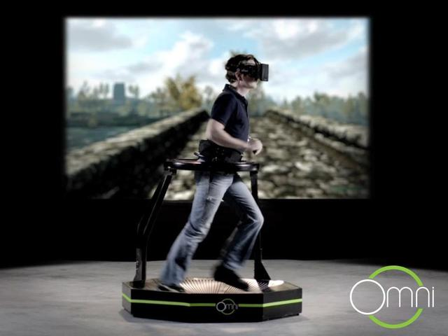 virtuix omni treadmill, vr, fitness