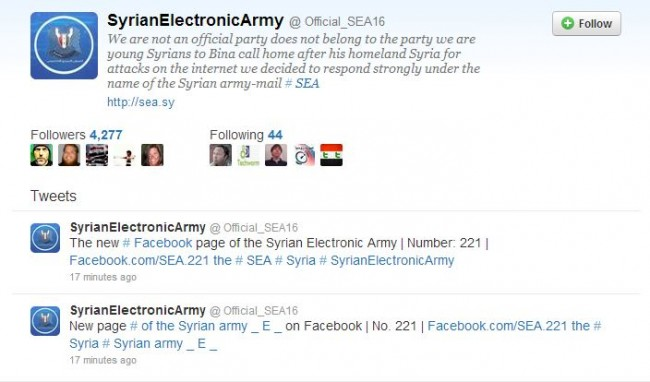 Syrian Electronic Army Site Taken Down by Domain Host