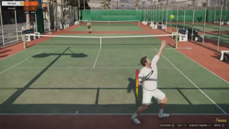 Enjoy a game of tennis to relax from all of the heists.