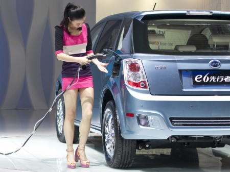 Chinese developing electric cars to tackle climate change