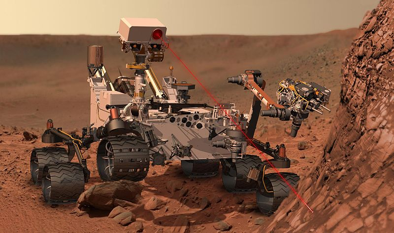 Curiosity Rover taking samples