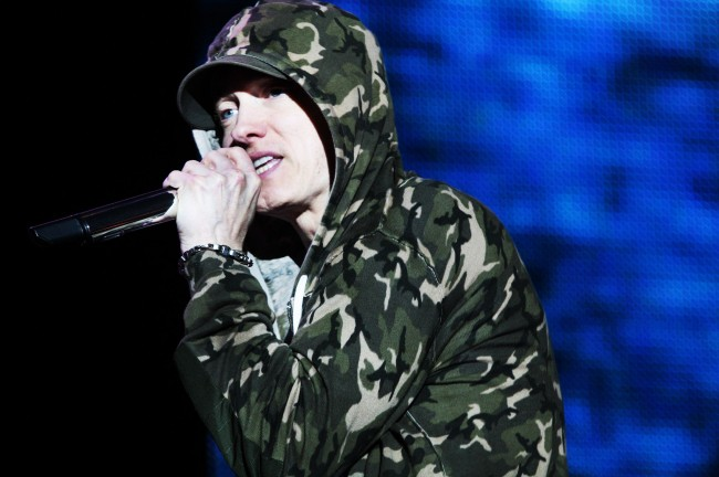 Eminem at the Reading festival in the United Kingdom 2013