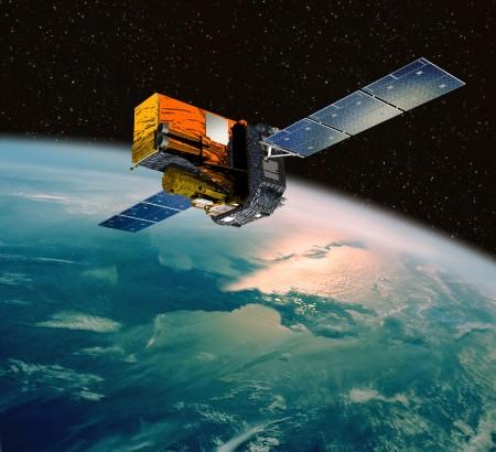 INTEGRAL satellite shown orbiting Earth