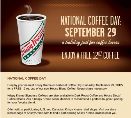 Krispy Kreme is offering a great deal!