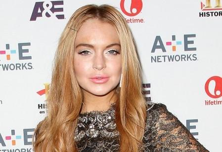 Lindsay Lohan Huge Sideboob at Mom's House
