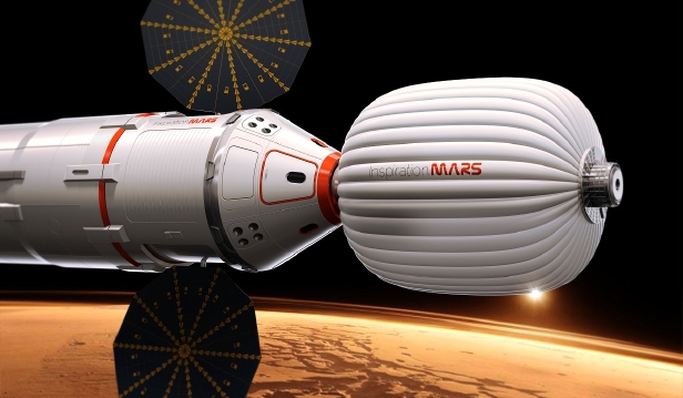 Mars One landing capsules and ComSat array