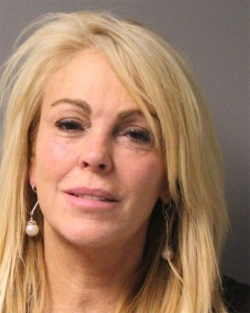 Mugshot of Dina Lohan after her DWI arrest