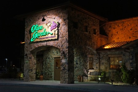Darden owns is Olive Garden, Red Lobster and Longhorn Steakhouse.