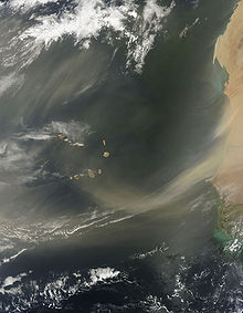 Sahara Air Layer moving across from African Continent