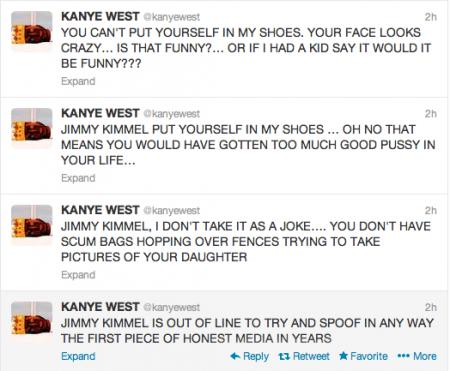 Kanye West Twitter Tirade