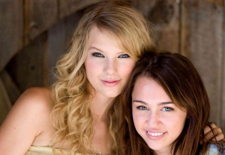 Miley Cyrus Beaten by Taylor Swift