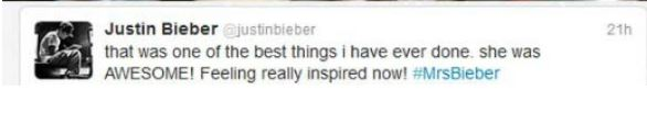 2012 Bieber status after his meeting with Avalanna