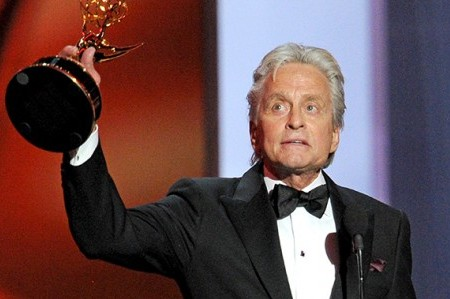 Emmy Winner Michael Douglas Puts on Brave Front Alone