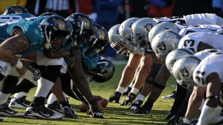 The Jaguars and Raiders will square off Sunday in a game that might decide who takes home the number one draft pick in 2014.