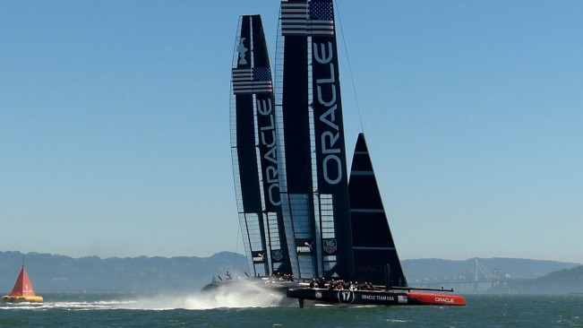 Oracle Team USA - America's Cup race