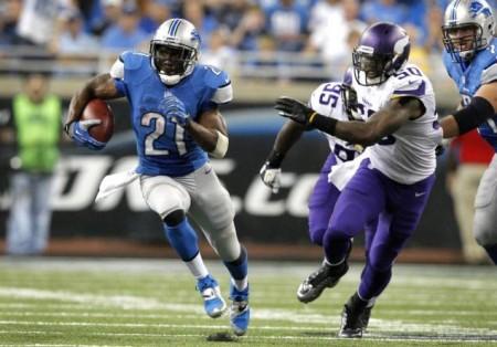 Detroit Lions running back Reggie Bush tore up the Minnesota Vikings in his debut Sunday.