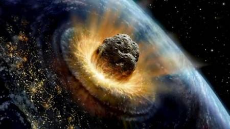 Asteroid smash earth