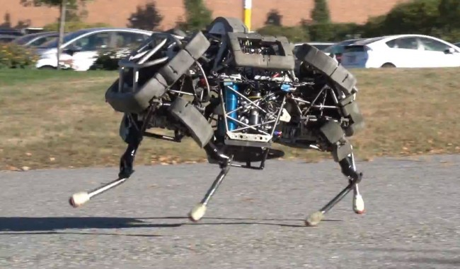 Boston Dynamics WildCat robot gallops and bounds