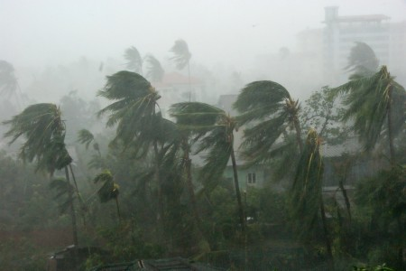 Cyclone hits east India