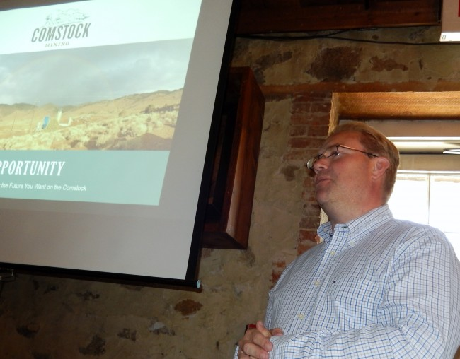 Dave Thomas, Director of Mining and Processing, explains the Comstock