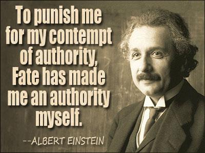 Einstein on authority