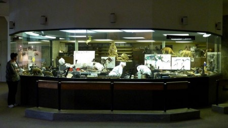 Fishbowl lab at the Page Museum
