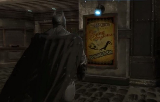 Flying Graysons poster found in Arkham Origins