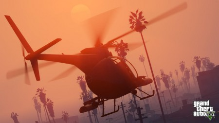Use a chopper for a quick getaway and plenty of cash