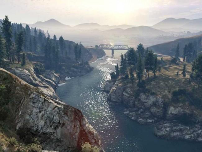 GTA V mountain view