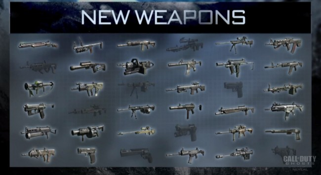Ghosts is set to feature a greater variety of weapons