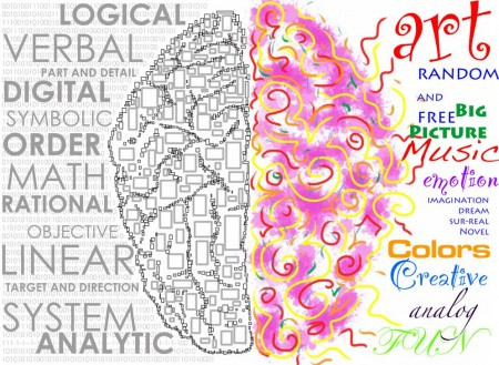 right brained left brained lateralization