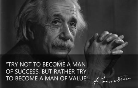 Man of success versus a man of value