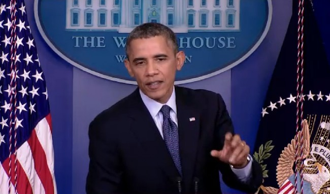 In a press conference just ended, Obama said the shutdown is a purposeful Republican strategy