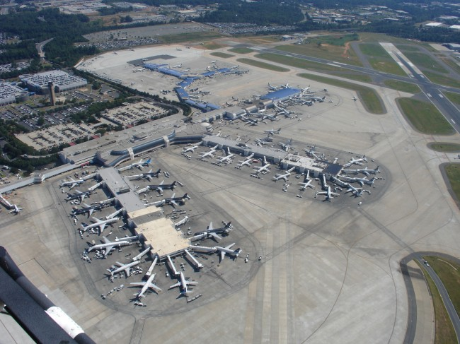 Plane at Charlotte-Douglas Airport detained due to note