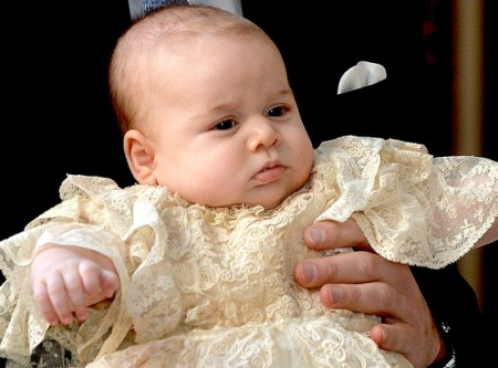 Prince George in Christening Gown