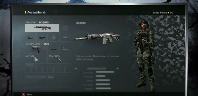 Soldier customization for Call Of Duty Ghosts Character Creation