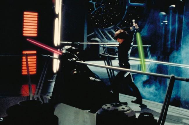 Star Wars battle scene