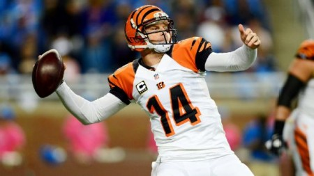 Andy Dalton and the Cincinnati Bengals are riding high after a last second win at the Detroit Lions.