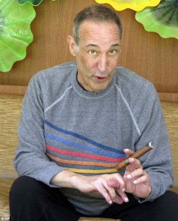 Sam Simon with cigar